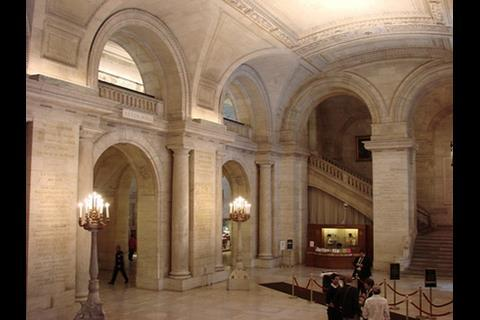Interior of the building at Fifth Avenue